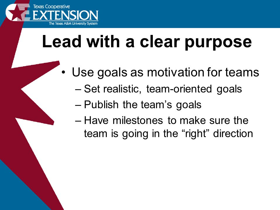 Lead with a clear purpose