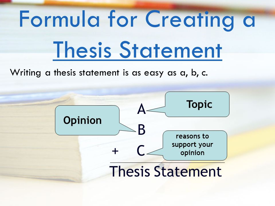 creating a strong thesis statement