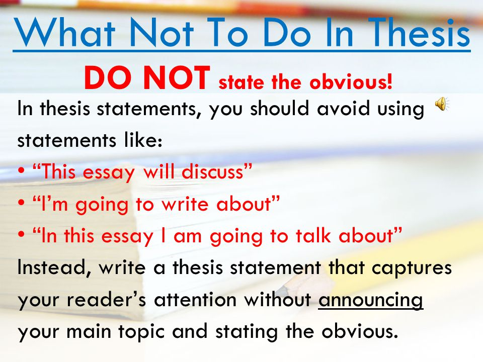 what is a thesis paragraph