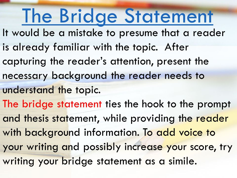 Hook Bridge Thesis by Delanna Herald on Prezi