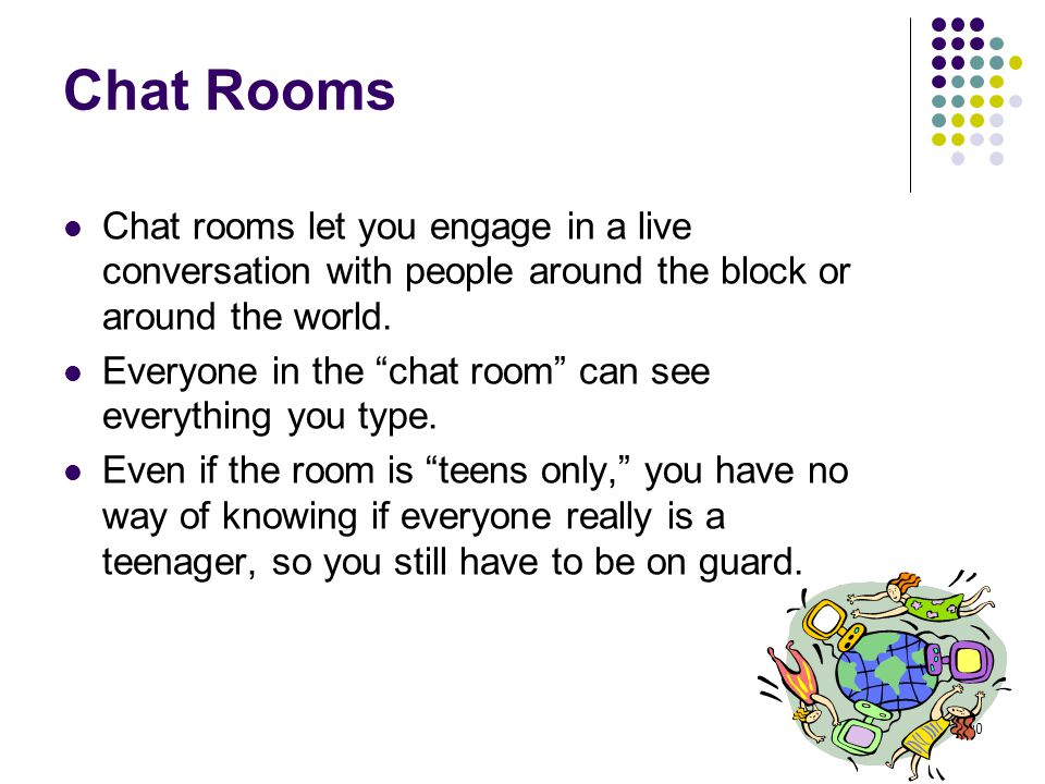 chat rooms around the world