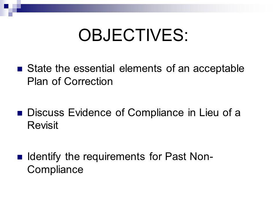 guidelines to investigate non-compliance