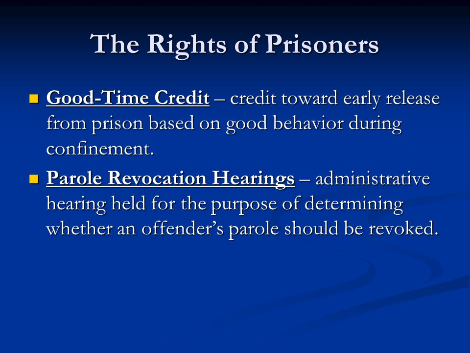 The Rights of Prisoners