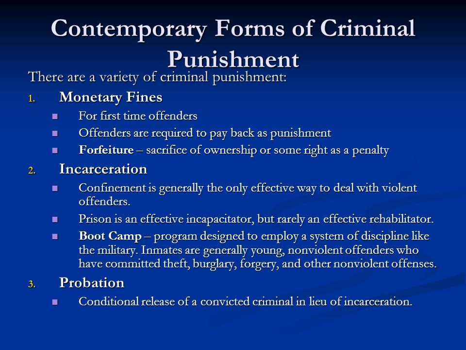 what are the five goals of contemporary sentencing Describe the five goals of contemporary criminal sentencing which of these goals do you think ought to be the primary.