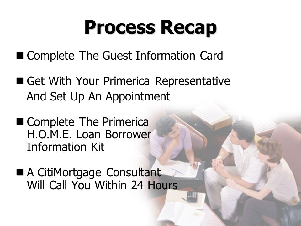 Process Recap Complete The Guest Information Card