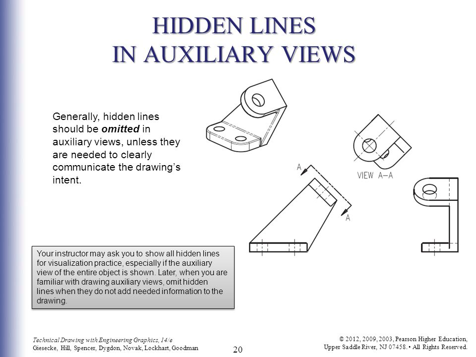 Drawing With Hidden Lines : Auxiliary views c h a p t e r i g on exam ppt
