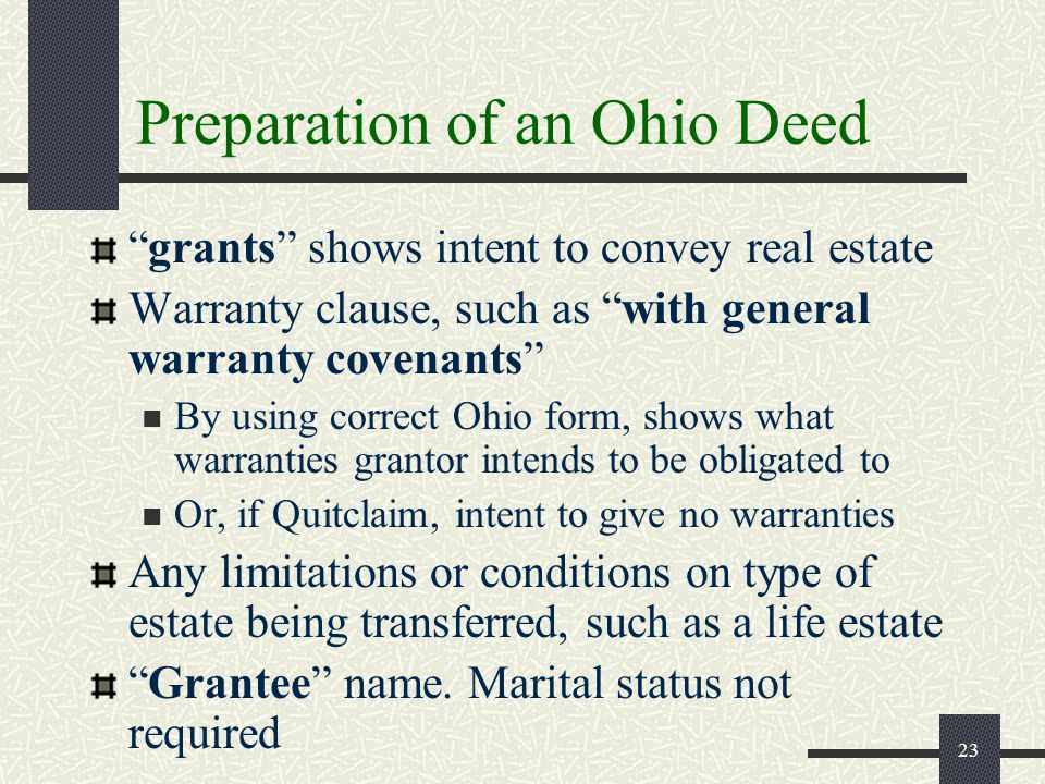 Deeds - Par 131 Real Estate I Mike Brigner, J.D. - Ppt Video