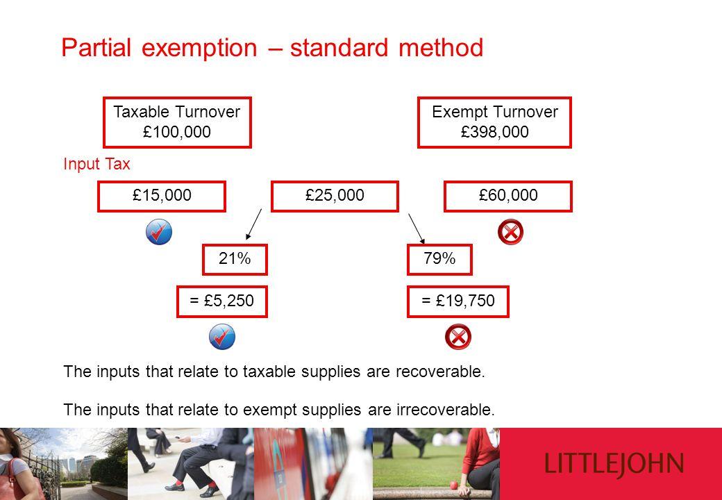Partial exemption – standard method