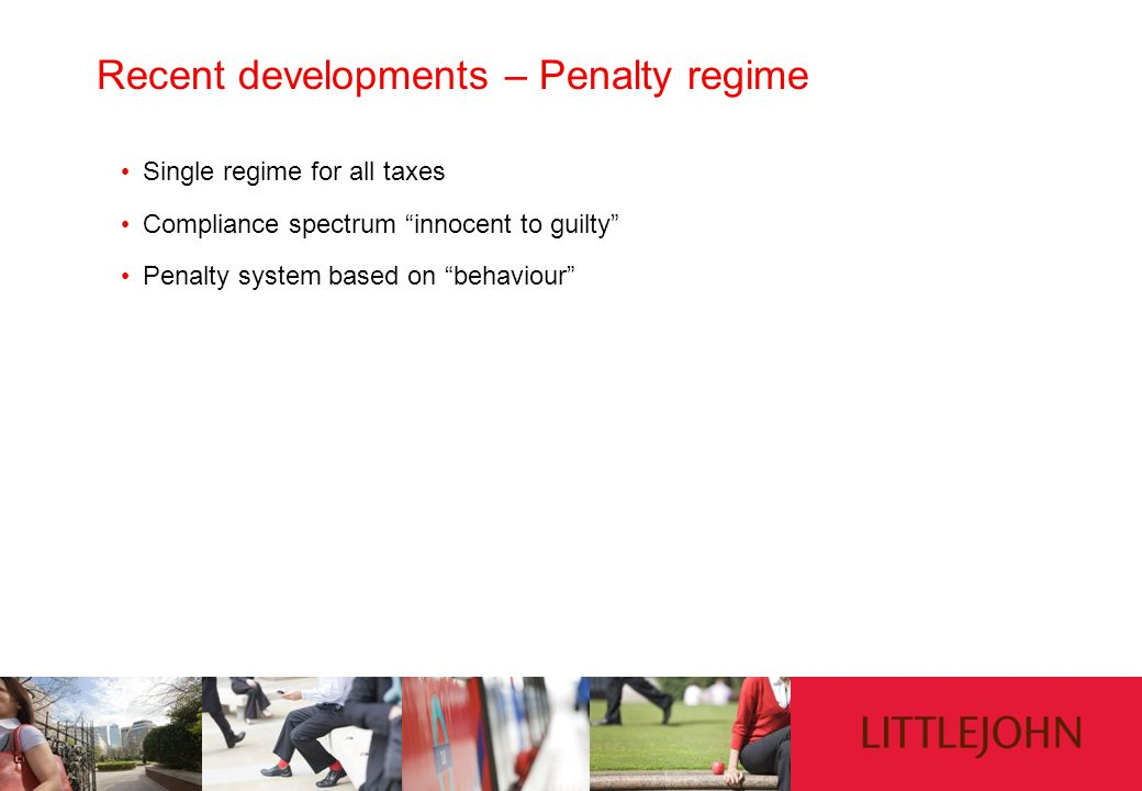 Recent developments – Penalty regime