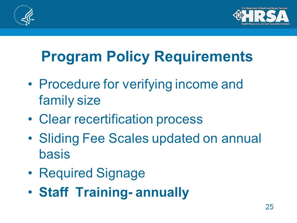 Program Policy Requirements
