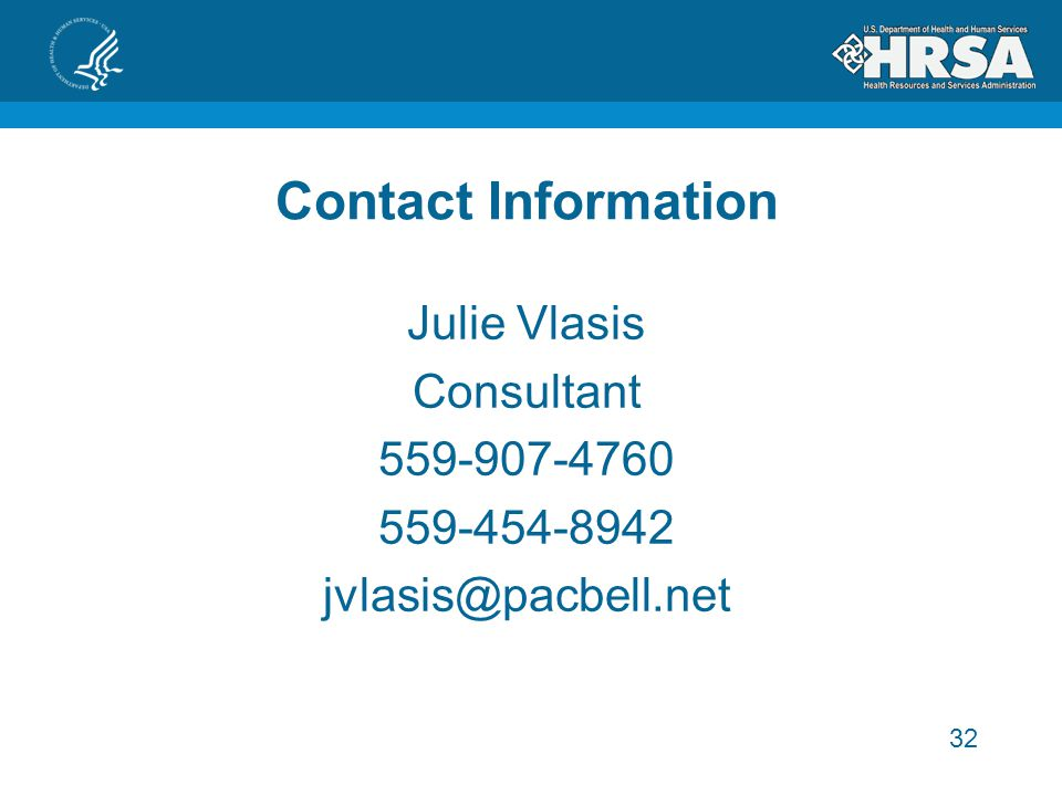 Contact Information Julie Vlasis Consultant