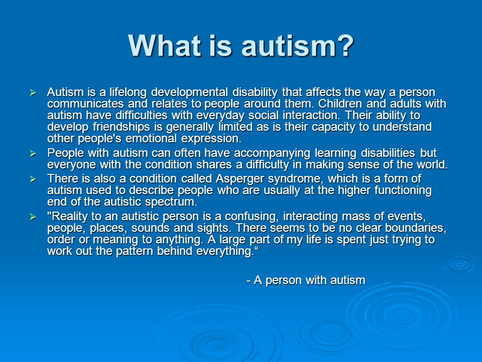 Autism Symptoms Signs of Being on the Autism Spectrum
