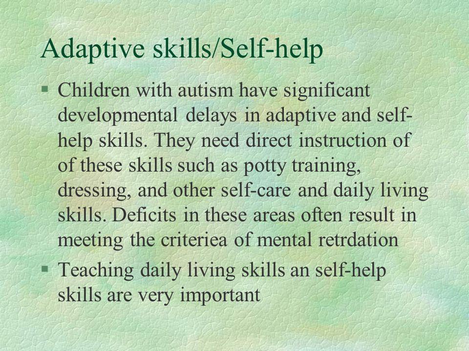 Adaptive Skills Self Help