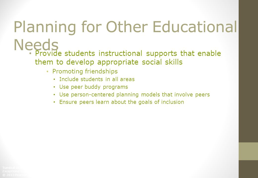 Planning for Other Educational Needs