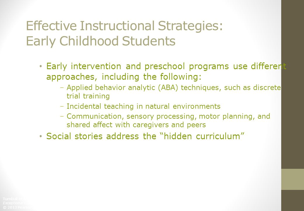 Effective Instructional Strategies: Early Childhood Students