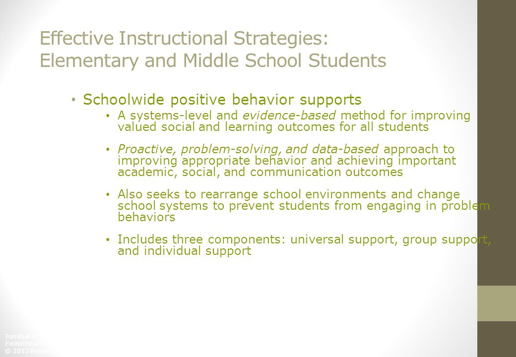 Effective Instructional Strategies: Elementary and Middle School Students