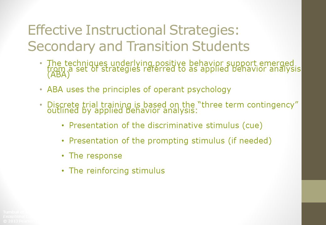 Effective Instructional Strategies: Secondary and Transition Students