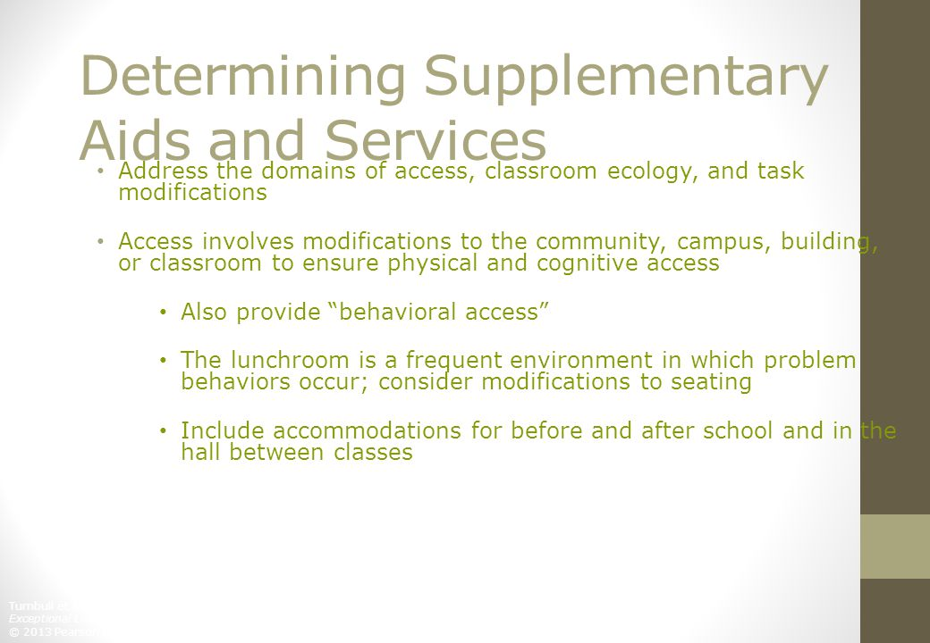 Determining Supplementary Aids and Services