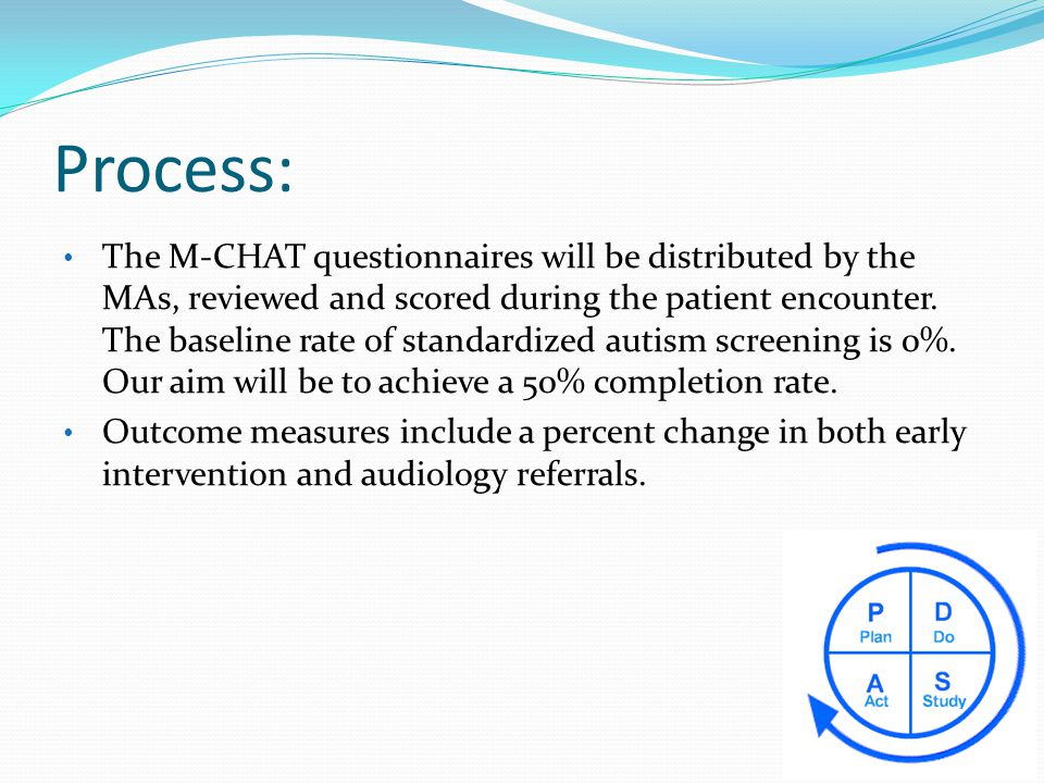 Autism Screening Broadway Clinic QI project - ppt download