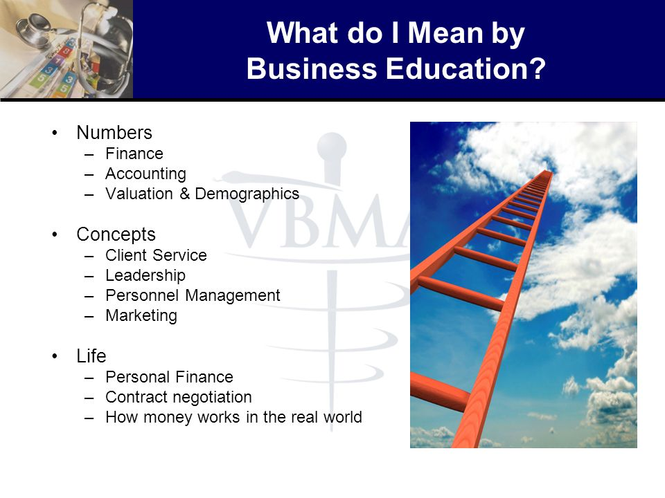 What do I Mean by Business Education