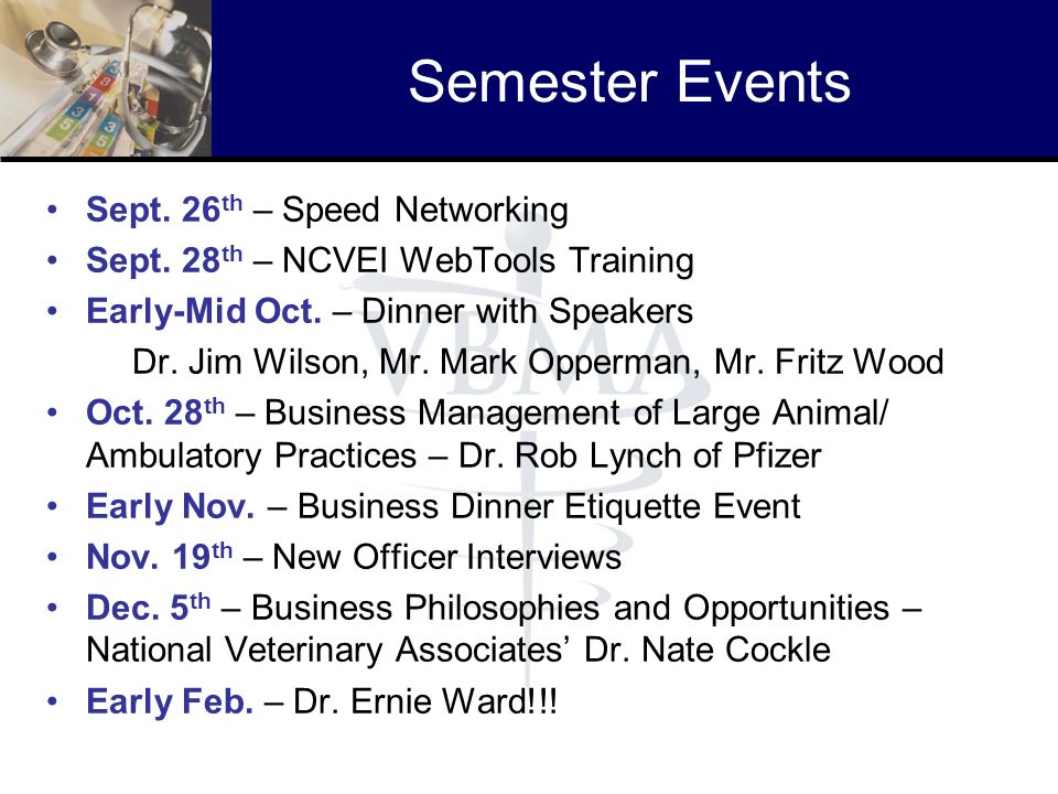 Semester Events Sept. 26th – Speed Networking
