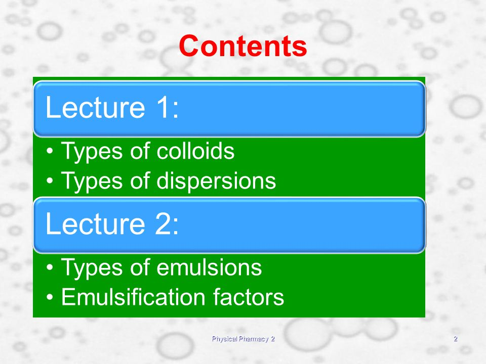 importance of colloidal dispersion in pharmacy Every colloid consists of two parts: colloidal particles and the dispersing medium the in addition, colloids display the tyndall effect when a strong light is shone through a colloidal dispersion it helped me understand the term colloid its important to know it 67 sarahmae.