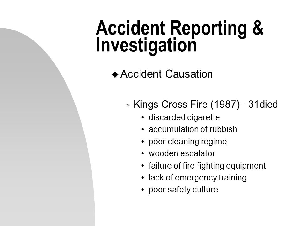 Accident Reporting & Investigation