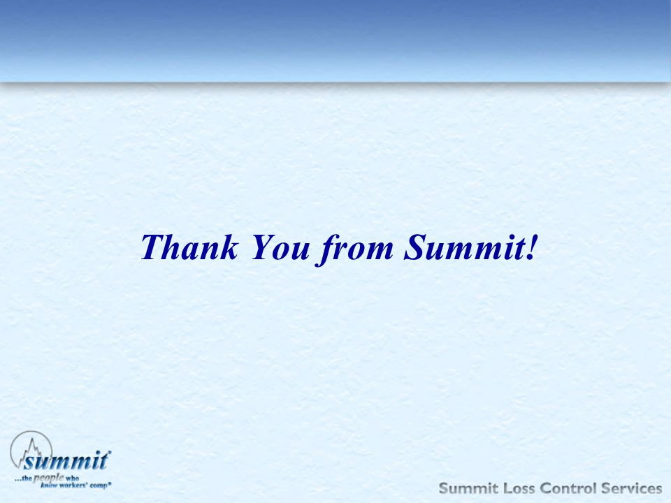 Thank You from Summit!