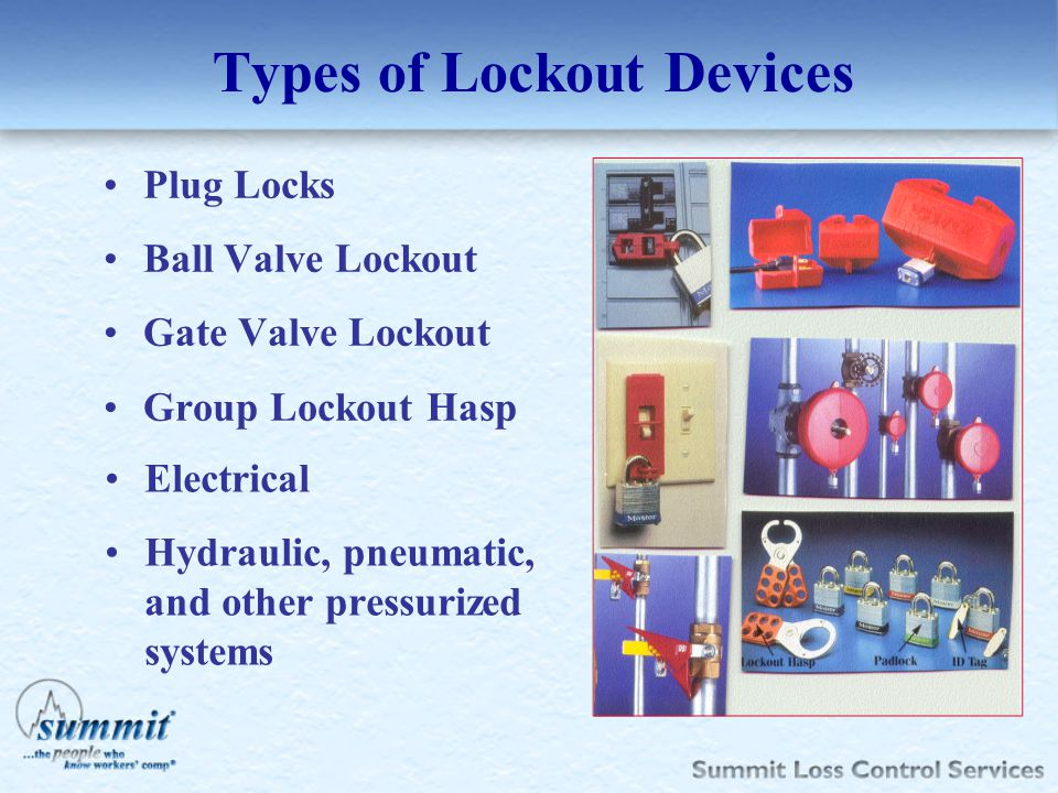 Types of Lockout Devices