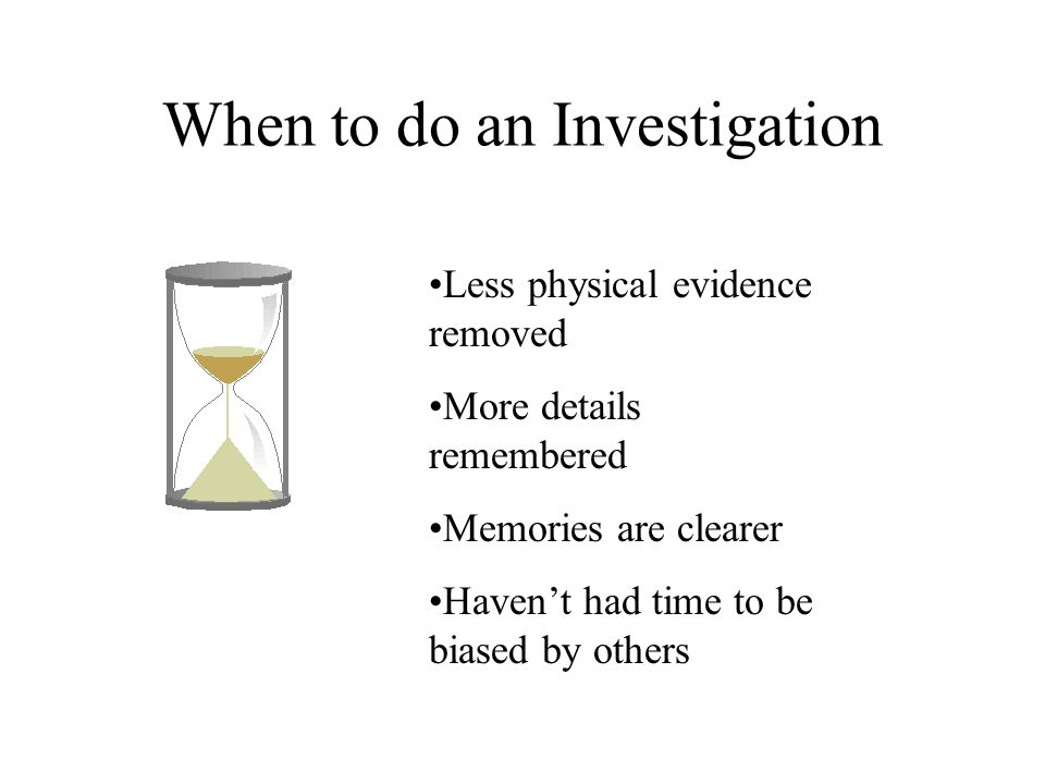 how to do an investigation at work