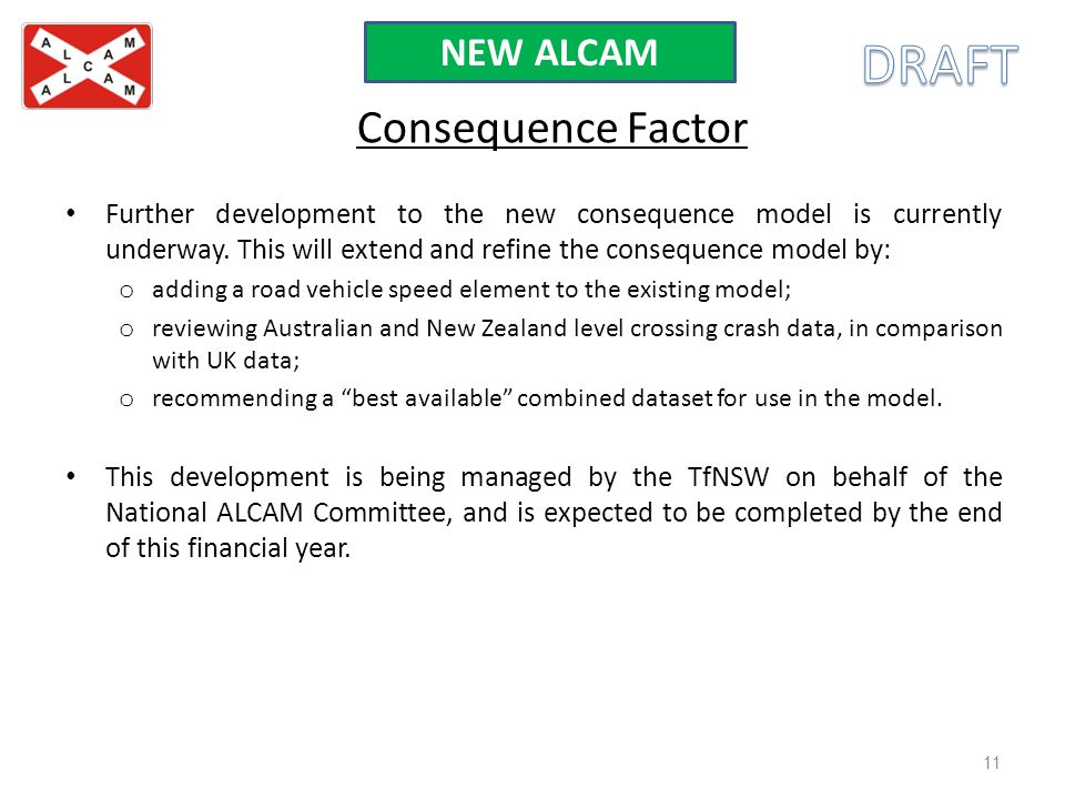 DRAFT Consequence Factor NEW ALCAM