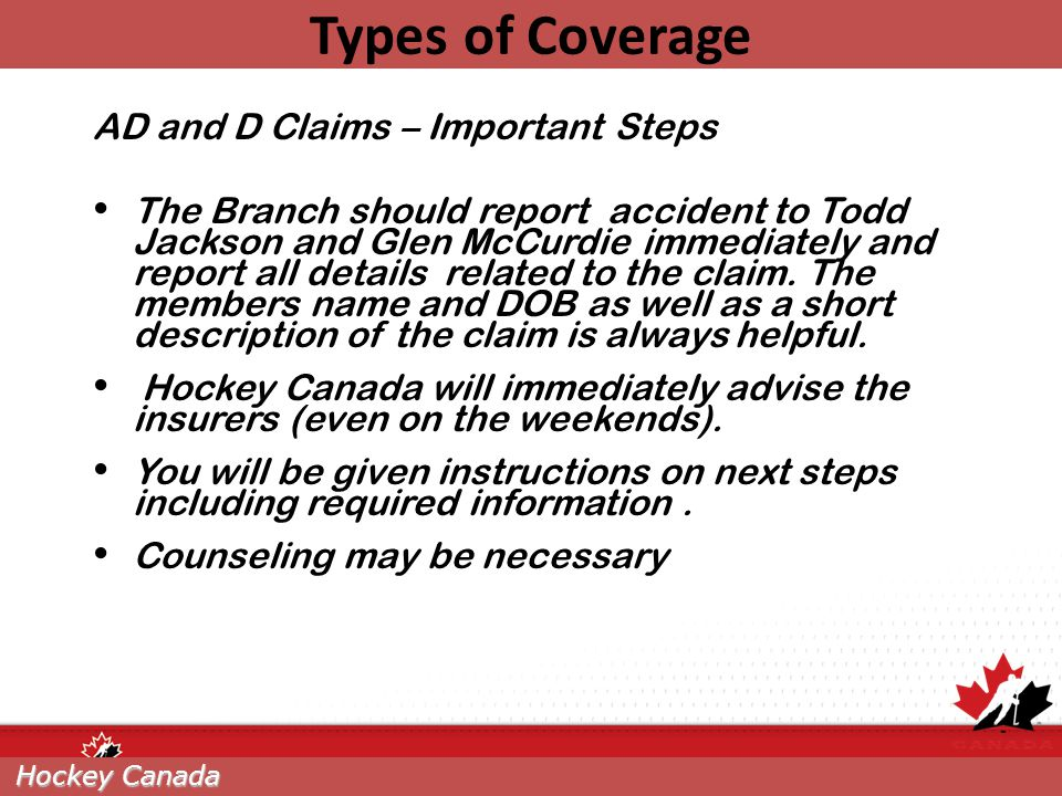 Types of Coverage AD and D Claims – Important Steps