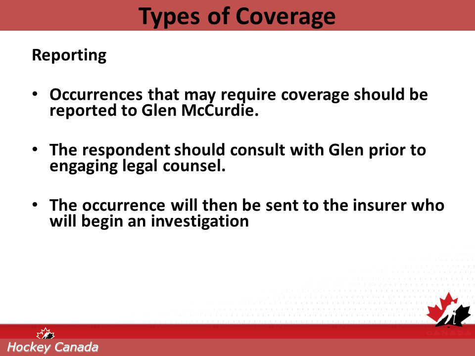Types of Coverage Reporting