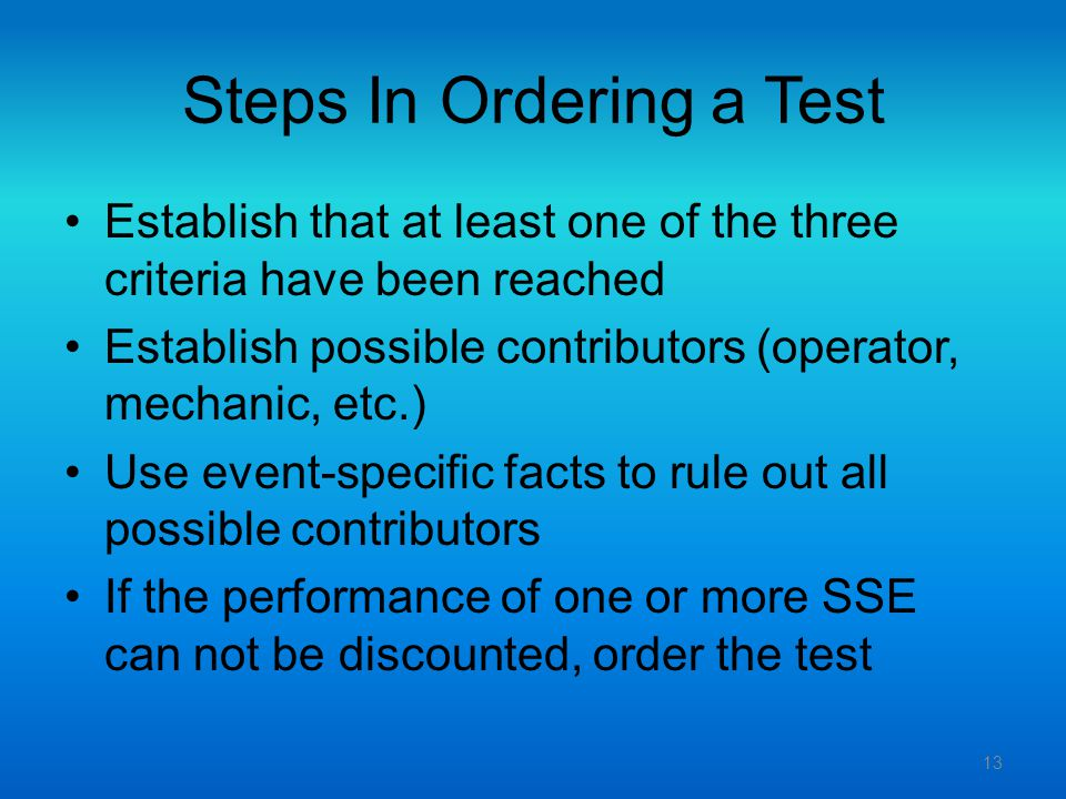 Steps In Ordering a Test