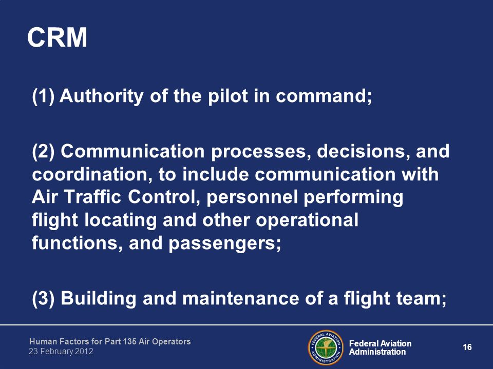 crm decision making in pilots Good decision making involves several mental qualities and skills from a pilot  these are: personal attitudes which are dangerous to safe flight, recognizing and .