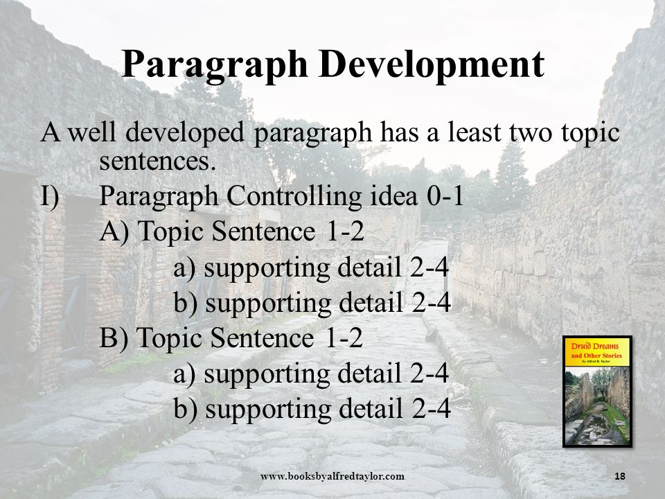 Paragraph development essay writing