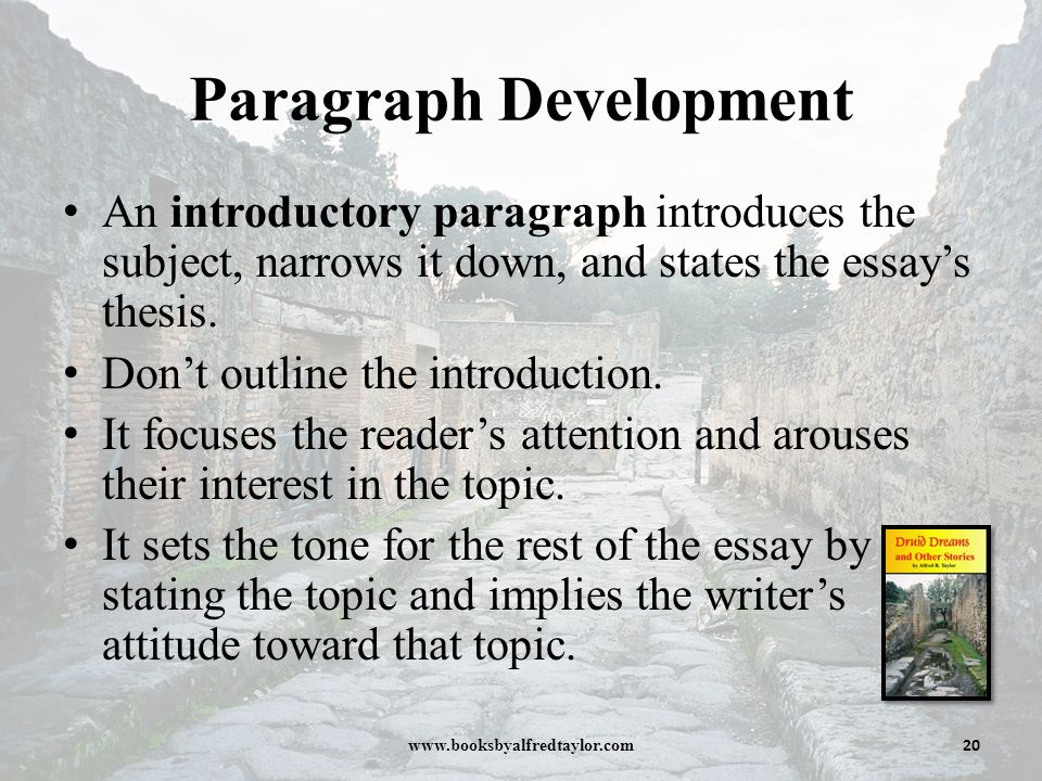 Developing an essay thesis