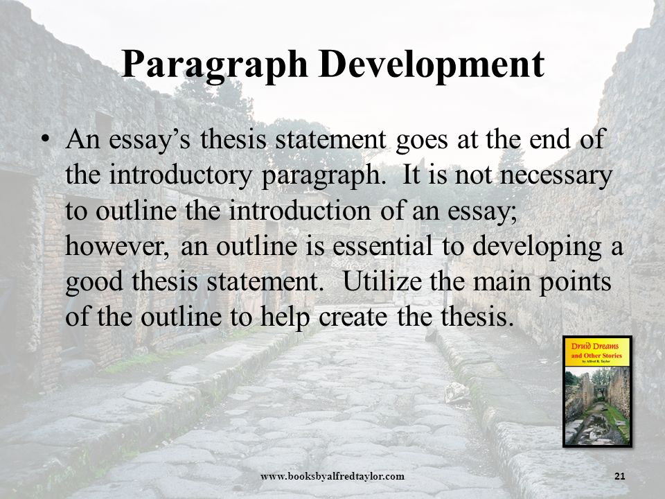 creating development thesis statement occurs Developing a thesis statement what thesis statements do almost all academic papers contain a thesis - an assertion you make about your topic that your paper is dedicated to defending before you start writing, you should do some prewriting to develop a working thesis remember, it doesn't need to be perfect before you start writing.