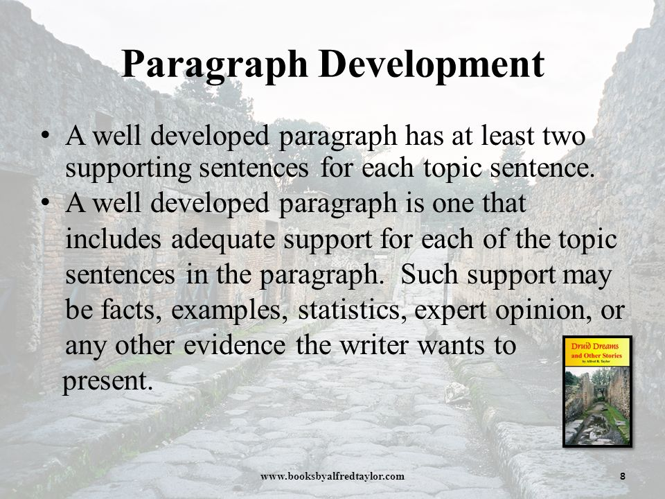 sample paragraph developed by repetition How to develop and write an analytic essay  the first sentence of any paragraph should give your reader an idea of what the paragraph is going to say and how the.