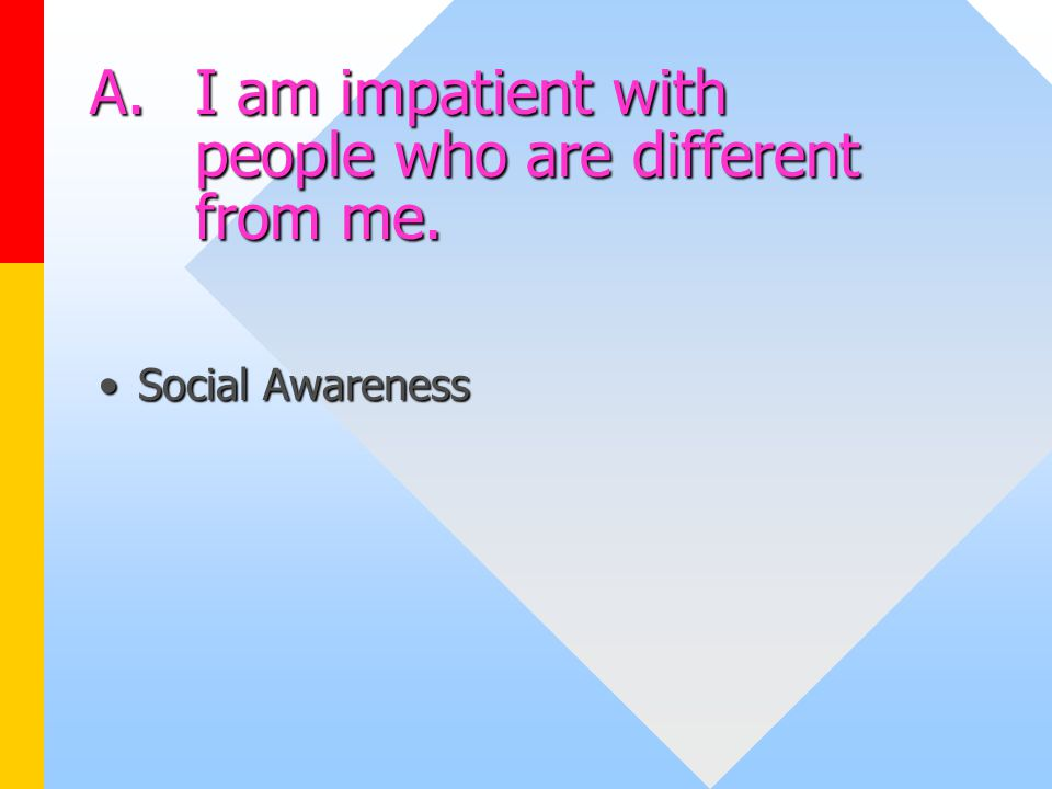 I Am Different From Others Emotional Intelligence...