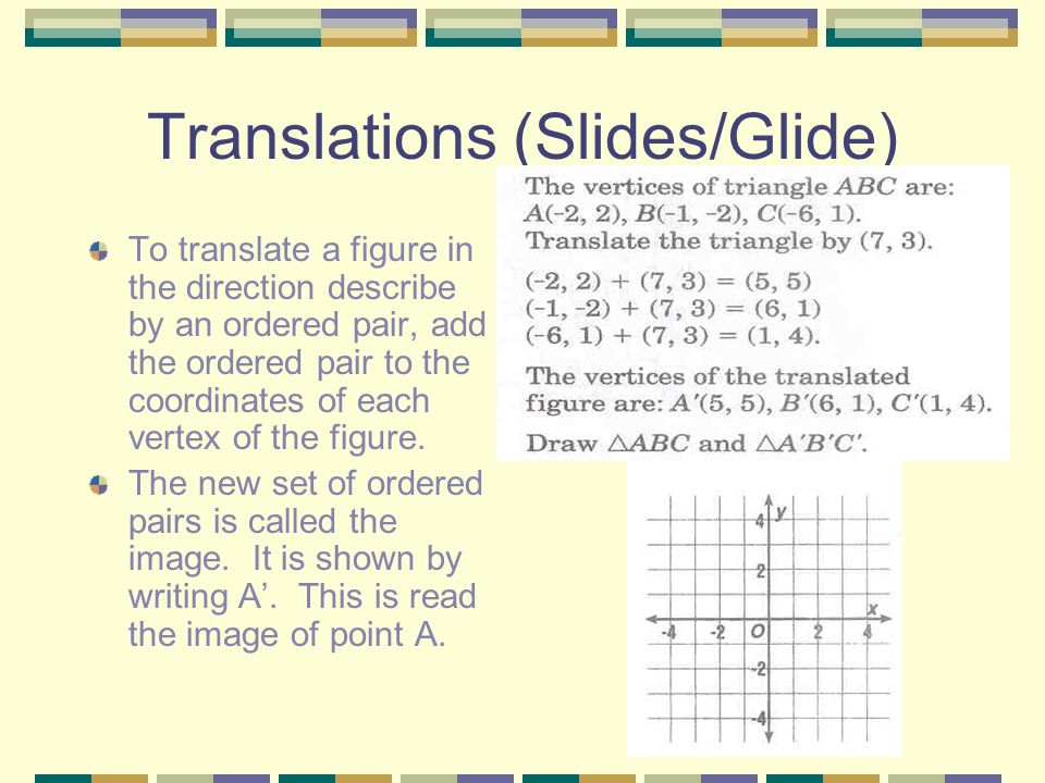 Translations (Slides/Glide)