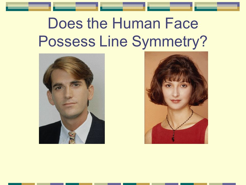 Does the Human Face Possess Line Symmetry