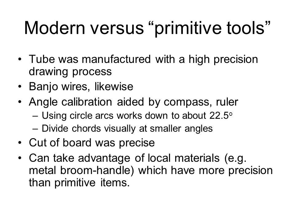Modern versus primitive tools