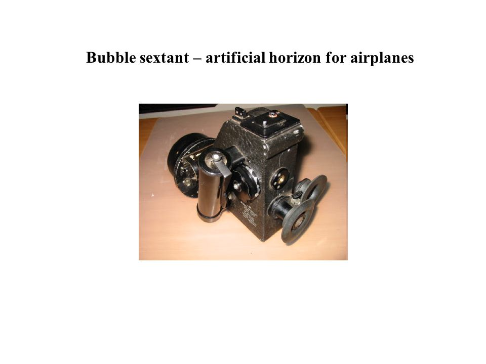 Bubble sextant – artificial horizon for airplanes