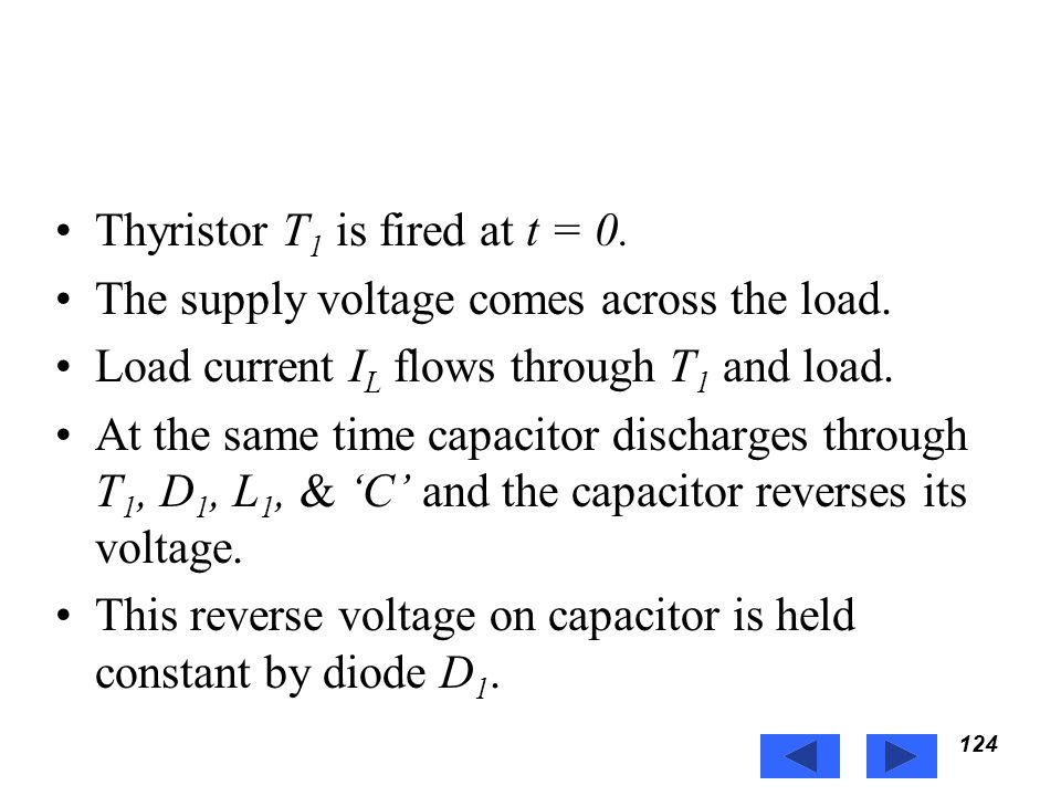 Thyristor T1 is fired at t = 0.