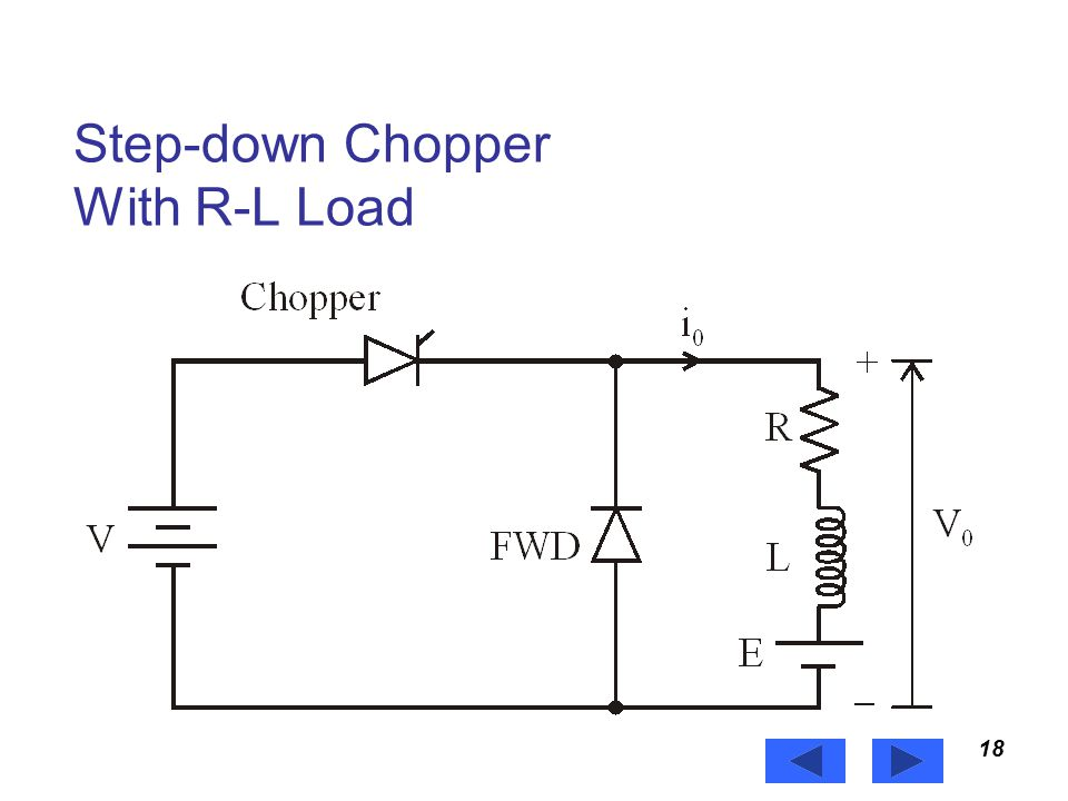 Step-down Chopper With R-L Load