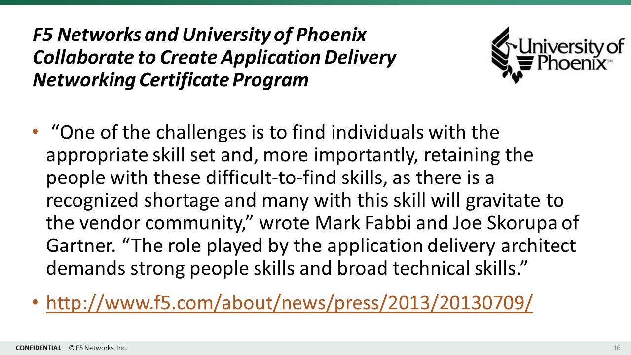 Cdcas small business and industry outreach initiative sbioi 29 f5 networks and university of phoenix collaborate to create application delivery networking certificate program xflitez Choice Image