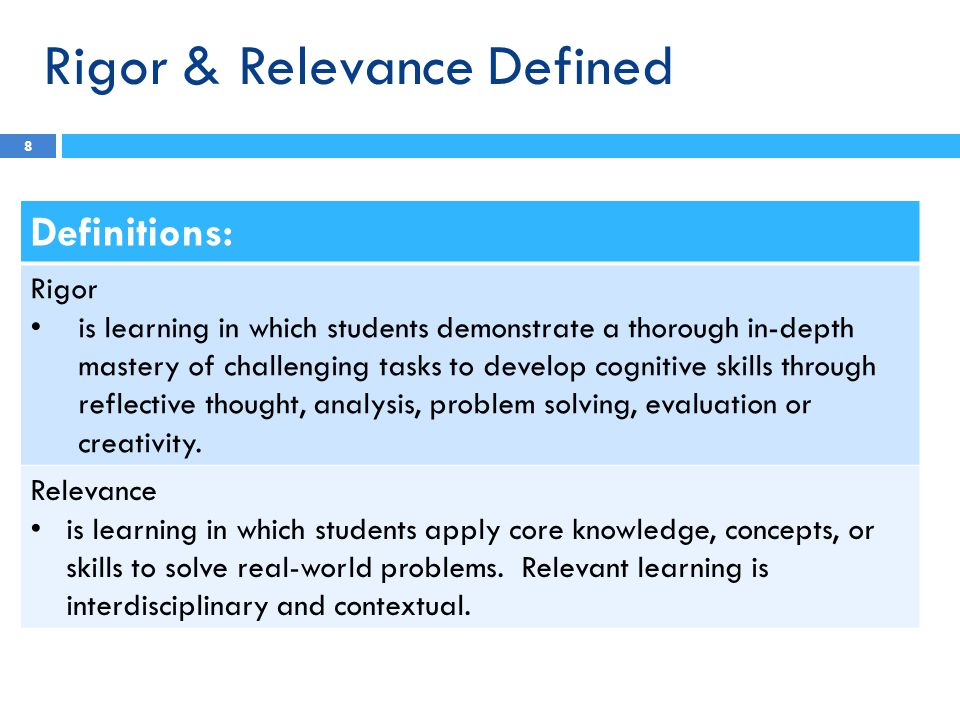 3 rs of education rigor relevance and relationship