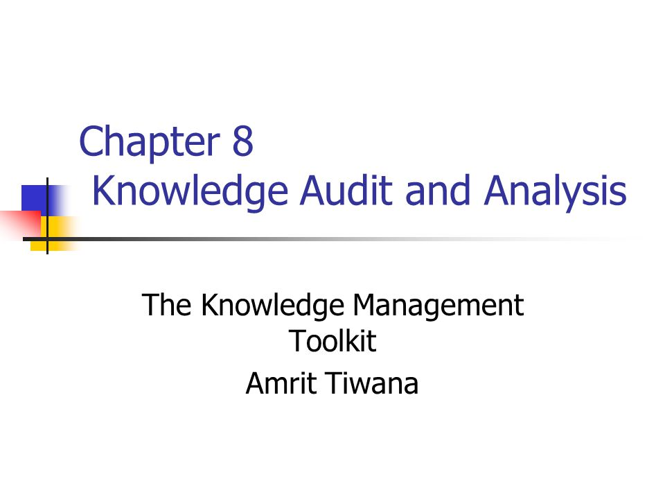 Audit knowledge management strategy