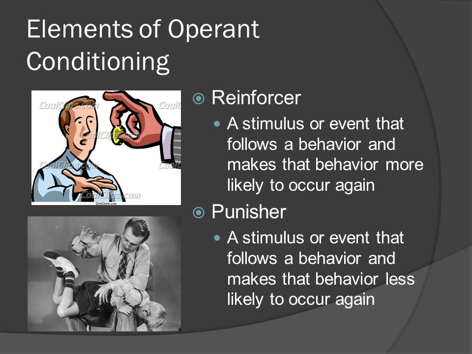 operant conditioning and superstitions There are several types of reinforcement's positive and negative, which both t reinforcement are strengthen or weaken to shape behavior although the reinforcement is unknown and unlikely to.